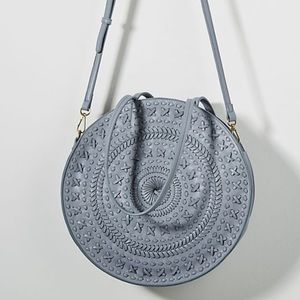 Anthropologie Kelsey Woven Circle Bag